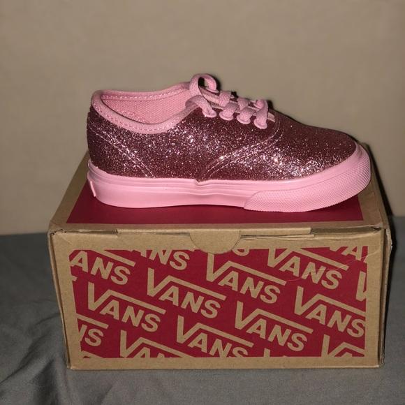 Pink Glitter Toddler Vans 775ddbb37